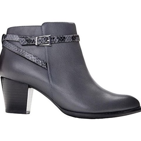Image 0 of Womens Upton-Wide Ankle Boot Dark Grey Size 8.5 Wide by Vionic