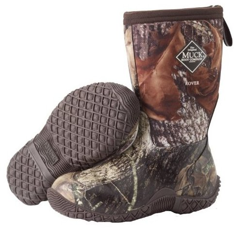 Boys Rover II Kids Outdoor Winter 4 Youth Brown RVT-MOB by Muck Boots