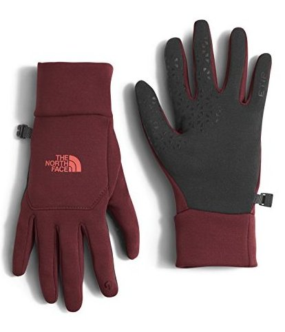 Etip Womens Gloves - Medium/Deep Garnet Red by The North Face