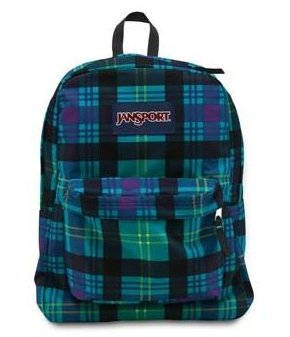 Image 0 of Superbreak Backpack Mammoth Blue Preston Plaid One Size by JanSport