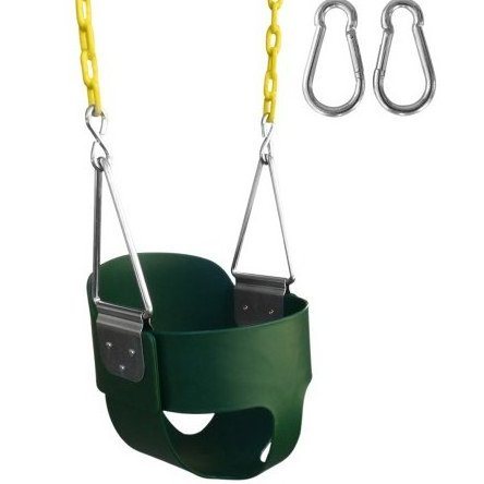 Image 0 of High Back Full Bucket Swing With 67-Inch Coated Chain by Swing-N-Play