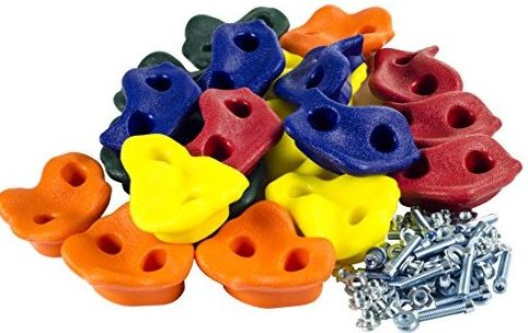 Image 0 of 20 Assorted Rock Climbing Holds with Hardware- Sw by Squirrel Products