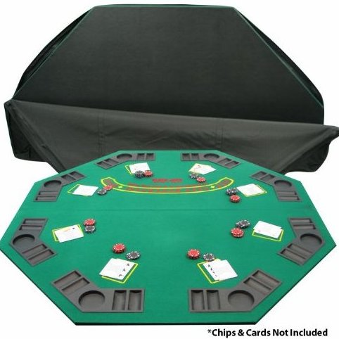 Image 0 of Deluxe Solid Wood Poker and Blackjack Table Top wi by Trademark Poker
