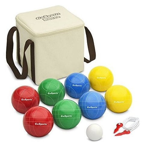 Image 0 of Backyard Bocce Set with 8 Balls Pallino Case and Measur by GoSports