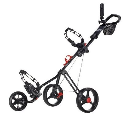 Image 0 of SuperLite Deluxe Golf Push Cart Black by CaddyTek