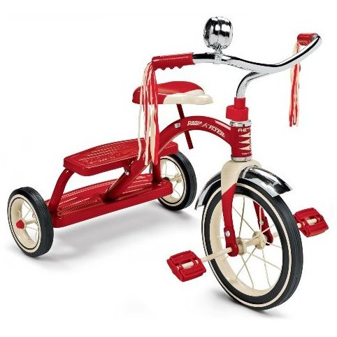 Classic Red Dual Deck Tricycle by Radio Flyer