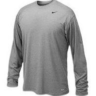Image 0 of Mens Legend Long Sleeve Tee Grey XL by Nike
