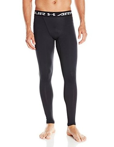 Image 0 of Mens ColdGear Armour Compression Leggings Black 00 by Under Armour