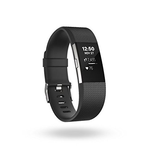 Image 0 of Charge 2 Heart Rate  Fitness Wristband Black Large by Fitbit
