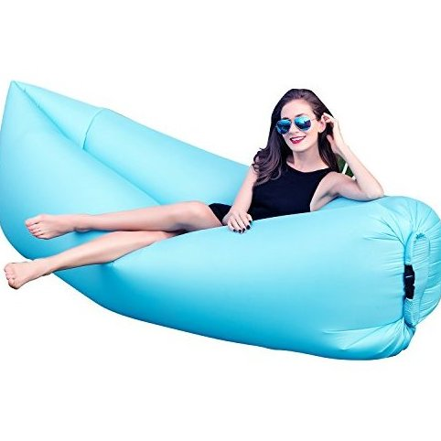 Image 0 of Outdoor Inflatable Hangout Portable Bag Lounger Nylon Fabric by HAKE