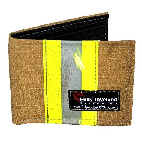 Firefighter Wallet Made From Recycled Turn by Fully Involved Stitching