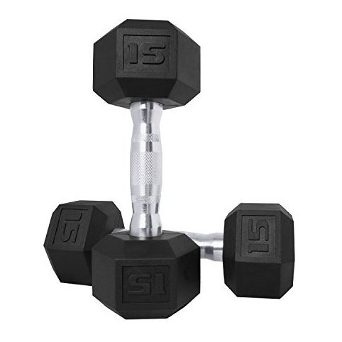 Image 0 of SDPP-030 Color Coated Hex Dumbbell 15 lb Pair by CAP Barbell