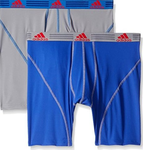 Image 0 of Mens Sport Performance Climalite Boxer Brief Underwear 2 by adidas