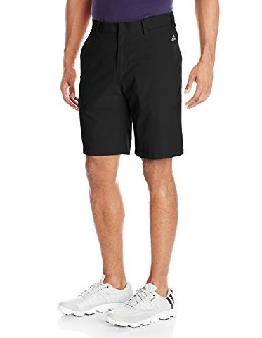 Image 0 of Golf Mens Climalite 3-Stripes Shorts Black/Vista Grey S by adidas