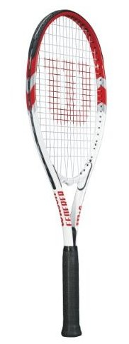 Image 0 of Federer Adult Strung Tennis Racket 4 1/4 by Wilson