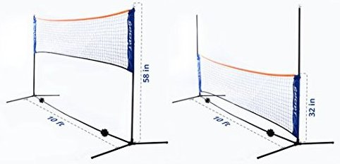 10 Ft Tennis Net Stand for Quickstart Tennis. To by Street Tennis Club