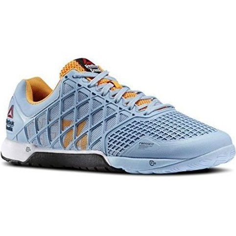 Image 0 of Mens Crossfit Nano 4.0 Sneakers Denim Glow / Sunset Orange by Reebok