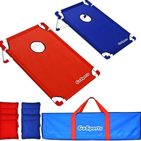 Image 0 of Portable PVC Framed CornHole Game Set with 8 Bean Bags an by GoSports
