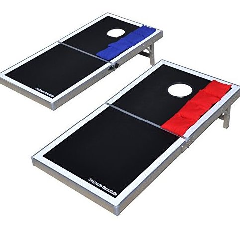 Image 0 of CornHole PRO Regulation Size Bean Bag Toss Game Set Blac by GoSports