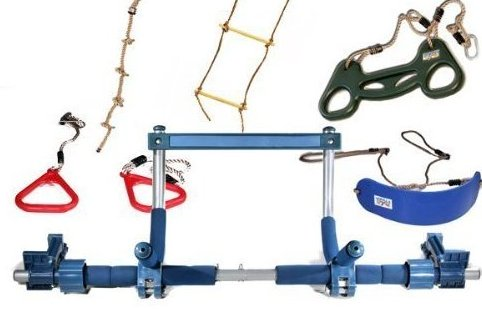 Image 0 of Kids Deluxe with Indoor Swing Plastic Rings Trapeze by Gorilla Gym
