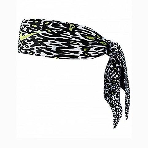 Image 0 of Nike Dri-Fit Head Tie 2.0 Black/Volt Print