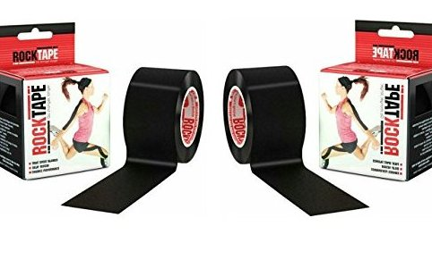 Image 0 of Kinesiology Tape for Athletes - 2 Inch x 16.4 Feet Black by Rocktape