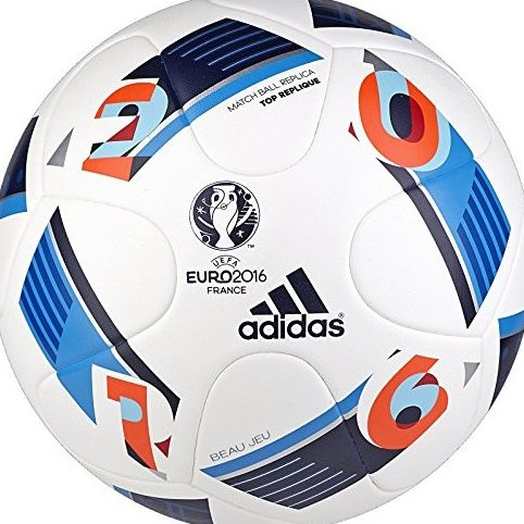 Image 0 of Performance Euro 16 Top Replique Soccer Ball White/Bright by adidas
