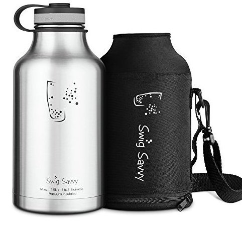 Image 0 of Stainless Steel Insulated Water Bottle and Beer Growler by SWIG Savvy