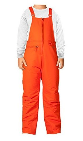 Image 0 of Insulated Youth Snow Bib Overalls Sunset Orange Medium by Arctix