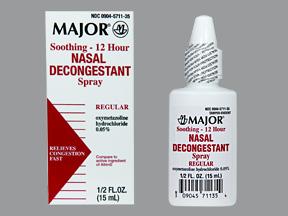 12 Hour Decongestant Nasal Spray 15 Ml By Major Pharma