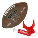 Image 0 of NFL MVP Junior Football with Pump and Tee Brown by Wilson