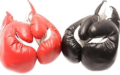 Image 0 of 2 Pair Red Black 6oz Youth Boxing Gloves for Kids by Tripact