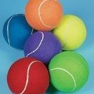 Image 0 of Jumbo 8 Inch Tennis Ball Receive 1 Per Order Assorted by Fun Express