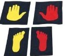 Image 0 of Girls Gymnast Hands and Feet Placement Mat 5-Piece by Tumbl Trak