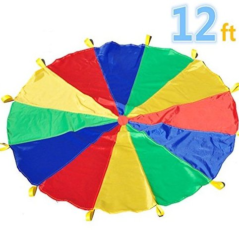 Image 0 of Parachute 12 Foot for Kids with 12 Handles Play Parachut by Sonyabecca