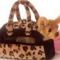 Image 0 of World Fancy Pals Plush Chihuahua Purse Pet Carrier by Aurora