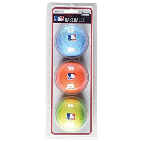 Image 0 of Team MLB 3Pack Foam Baseballs - Gradient by Franklin Sports