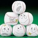Image 0 of 12 silly face Vinyl Baseball Kick Balls by Unknown