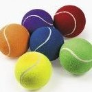 Image 0 of Rubber Tennis Balls Party Favors - 4 Pieces Assorted C by Fun Express