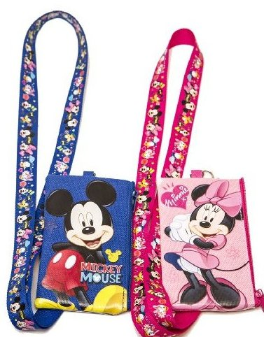 Image 0 of Set of 2 Mickey and Minnie Mouse Lanyards with Detachable C by Disney