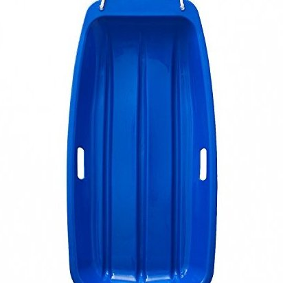 Image 0 of Plastic Outdoor Toboggan Snow Sled for Child 35-Inch Blue by AGPtek