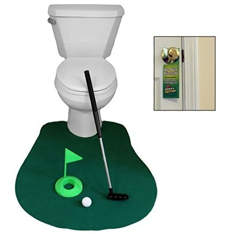 Image 0 of Potty Golf Game Novelty 6 Piece by Evelots
