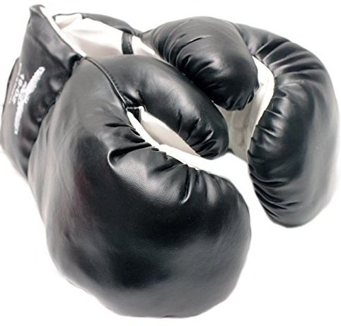 New 1 Pair of Youth Black 6oz Boxing Gloves by Tripact