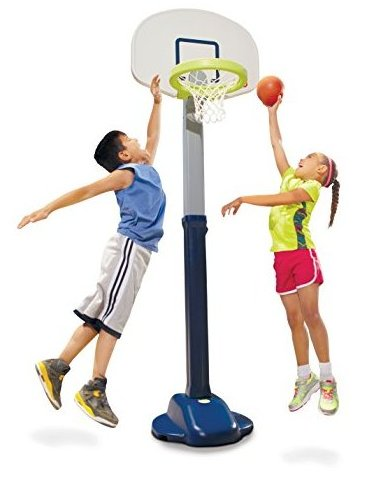 Adjust and Jam Pro Basketball Set Blue by Little Tikes