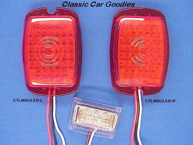 1937-1938 Chevy Car LED Tail Light Inserts Led LP Lite 12V