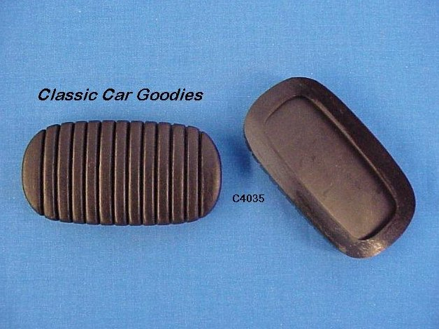 1937 1942 Chevy Clutch & Brake Pedal Pads (2) 1938 1939 1940 1941