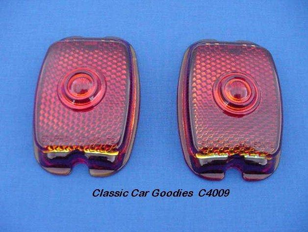 1937-1938 Chevy Tail Light Lenses (2) Glass