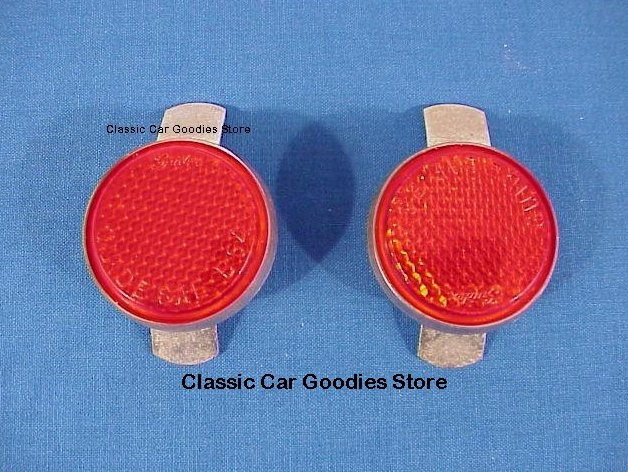 1949-1950 Chevy Tail Light Reflectors. Brand New Pair!