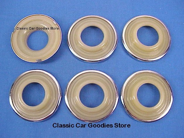 1941 Chevy Door and Window Handle Escutcheons (6) New!