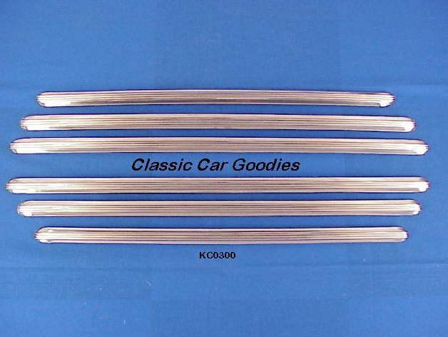 1941 1948 Chevy Fender Skirt Trim Set 1942 1946 1947